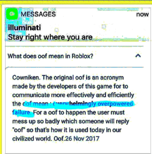 MESSAGES Now Illuminati | Stay Right Where You Are 0n What Does Oof