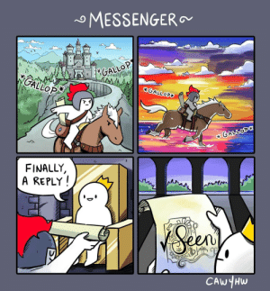 Messenger: MESSENGER  GALLOP  KGALLOP  GALLOPY  GALLOP  FINALLY  A REPLY  Seas  CAWYHW Messenger