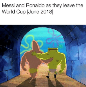 World Cup, Messi, and Ronaldo: Messi and Ronaldo as they leave the  World Cup [June 2018] You know these were white when I bought them.
