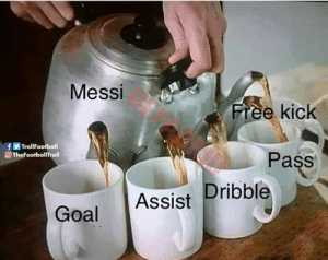 Messi 😎 https://t.co/ptJxlfVa6C: Messi  Free kick  fTrollFootball  OTheFootballTroll  Pass  Goal Assist Dribble Messi 😎 https://t.co/ptJxlfVa6C