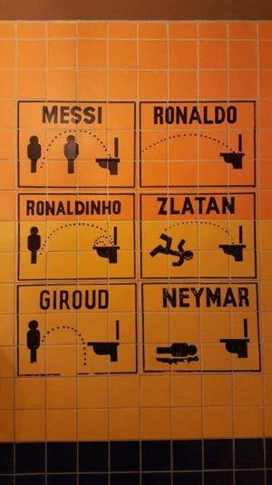 Dank, Neymar, and Messi: MESSI  RONALDO  ZLATAN  RONALDINHO  NEYMAR  GIROUD Now draw Messi
