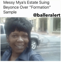 "Messy Mya's Estate Suing Beyonce Over ""Formation"" Sample - blogged by: @eleven8 ⠀⠀⠀⠀⠀⠀⠀⠀⠀ ⠀⠀⠀⠀⠀⠀⠀⠀⠀ The estate of Anthony Barré, affectionately known by fans and friends as MessyMya, has filed a lawsuit against Beyonce after the singer used a sound byte from his viral YouTube video in her video for "" Formation"". ⠀⠀⠀⠀⠀⠀⠀⠀⠀ ⠀⠀⠀⠀⠀⠀⠀⠀⠀ The Youtube star, who was shot and killed outside of his baby shower in NewOrleans, was known to throw shade and make wisecracks. A few seconds from his 2010 viral video, ""A 27 Piece Huh,"" featuring Messy Mya saying ""Oh yeah, baby. I like that,"" was used in the video version of Beyonce's ""Formation,"" which debuted in 2016. Barré's estate says that Beyonce used the snippet without permission and went on to make millions off the song. They also say they tried talking to Beyonce about the sample but says she blew them off. ⠀⠀⠀⠀⠀⠀⠀⠀⠀ ⠀⠀⠀⠀⠀⠀⠀⠀⠀ The estate is asking for $20,000,000 in back royalties and other damages. ⠀⠀⠀⠀⠀⠀⠀⠀⠀ ⠀⠀⠀⠀⠀⠀⠀⠀⠀ Aside from Messy Mya, BigFreedia's voice was also featured in the video. According to the 'Queen of Bounce', to his surprise, Beyonce approached him about doing the track because she was a fan of his New Orleans sound. Freedia recalls the phone call from Beyonce being a ""bigger than life moment."": Messy Mya's Estate Suing  Beyonce Over ""Formation""  Sample  Caballe ralert Messy Mya's Estate Suing Beyonce Over ""Formation"" Sample - blogged by: @eleven8 ⠀⠀⠀⠀⠀⠀⠀⠀⠀ ⠀⠀⠀⠀⠀⠀⠀⠀⠀ The estate of Anthony Barré, affectionately known by fans and friends as MessyMya, has filed a lawsuit against Beyonce after the singer used a sound byte from his viral YouTube video in her video for "" Formation"". ⠀⠀⠀⠀⠀⠀⠀⠀⠀ ⠀⠀⠀⠀⠀⠀⠀⠀⠀ The Youtube star, who was shot and killed outside of his baby shower in NewOrleans, was known to throw shade and make wisecracks. A few seconds from his 2010 viral video, ""A 27 Piece Huh,"" featuring Messy Mya saying ""Oh yeah, baby. I like that,"" was used in the video version of Beyonce's ""Formation,"" which debuted in 2016. Barré's estate says that Beyonce used the snippet without permission and went on to make millions off the song. They also say they tried talking to Beyonce about the sample but says she blew them off. ⠀⠀⠀⠀⠀⠀⠀⠀⠀ ⠀⠀⠀⠀⠀⠀⠀⠀⠀ The estate is asking for $20,000,000 in back royalties and other damages. ⠀⠀⠀⠀⠀⠀⠀⠀⠀ ⠀⠀⠀⠀⠀⠀⠀⠀⠀ Aside from Messy Mya, BigFreedia's voice was also featured in the video. According to the 'Queen of Bounce', to his surprise, Beyonce approached him about doing the track because she was a fan of his New Orleans sound. Freedia recalls the phone call from Beyonce being a ""bigger than life moment."""