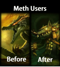 Meth Users  Before  After Meth; not even once. -near