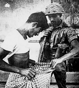 Method used in 1971 by Pakistani soldiers to identify Hindus during Bangladesh (East Pakistan back then) liberation war.: Method used in 1971 by Pakistani soldiers to identify Hindus during Bangladesh (East Pakistan back then) liberation war.