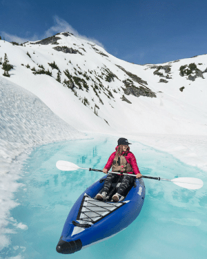 Instagram, Tumblr, and youtube.com: meti bellabucchiotti: Spring Glacier Kayaking   In June I went on a helicopter with Compass Helicopter Tours into the  mountains to go spring glacier kayaking. Look at the colour of this  water!!! Insane, right!?! READ MORE HERE about my helicopter flight to a British Columbia glacier to kayaking in the spring runoff.     Follow Bella Bucchiotti on Instagram and YouTube!!