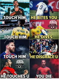 😂😂😂 https://t.co/jdaf77dgQt: Metife  TROLL  FOOTBALL  F/TROLLFOOTBALL.HD  TROLLFOOTBALL HD  TOUCH HIMHE DIVES  TOUCH HIM HEDİSGRR.EU  TROLL  FOOTBALL  HETOUCHES U  YOU DIE 😂😂😂 https://t.co/jdaf77dgQt