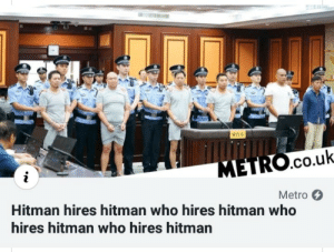 When you use too many pointers: METRO.cO.uk  Metro  Hitman hires hitman who hires hitman who  hires hitman who hires hitman When you use too many pointers