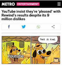 Click, Dank, and Funny: METRO ENTERTAINMENT  YouTube insist they're 'pleased' with  Rewind's results despite its 9  million dislikes  OC  Youtube CLICK 4 MORE FUNNY DANK MEMES - Quoratreasury Memes by PrO_RaZe