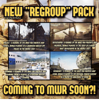 "Memes, PlayStation, and Ps4: MEW REGROUP"" PACK  @JESPERGRAN  PALACE-A REMAKE OF THE MW2 FAN FAVORITE MAP  ESTATE, BRINGS PLAYERS TO A LUXURIOUS WALLED OFF  PALACE IN THE MIDDLE EAST  SKYSCRAPER-A REMAKE OF THE MW2 FAN FAVORITE MAP  HIGHRISE, BRINGS PLAYERS TO THE ROOF OF A NEWLY  BUILT SKYSCRAPER IN THE MIDDLE EAST  TERMINAL-A REMAKE OF THE MW2 FAN FAVORITE MAP  MINAL BRINGS PLAYERS TO A RUSSIAN AIRPORT  BOUNDARY-A REMAKE OF THE MW3 FAN FAVORITE MAP  DOME, BRINGS PLAYERS TO THE RUSSIAN, FINNISH BORDER  IN A SNOWY RE-IMAGINING OF DOME  TERMINAL  COMING TO MUR SOON?  COMING TO MWR SOON?! It has now been leaked via a French retailer that MWR will be getting a new set of maps, nicknamed Regroup. It was listed on their website for a short amount of time before being taken down. What we do know is that it's touted for an August 1st release date on PS4, bringing four classic maps back from MW2 and MW3.- 👥tag a friend👥 ❤️5000 likes?❤️ follow🤖 ⬆️check out the link in my bio⬆️ 🔔turn on post notifications🔔 CoD SledgehammerGames BlackOps3 WorldWar2 Treyarch MWR callofduty InfiniteWarfare MWRemastered WWIIZombies Zombies CallofDutyIW InfinityWard PS4 PlayStation WWII xbox XboxOne BF1 BO3 CoD4 Gamer SHGames ModernWarfare Activision Sledgehammer CODWWII Game Gaming CoDReturns"