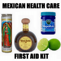 Funny Mexican T-Shirts--> http://store.somexican.com: MEXICAN HEALTH CARE  VICK  VapoRub  TEQUILA  ASi Jo  0449600  FIRST AID KIT Funny Mexican T-Shirts--> http://store.somexican.com