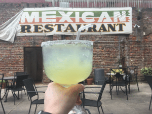 Bad, Spanish, and Tequila: MEXICAN  RESTA RANT When your Spanish is as bad as their English and all you wanted was a regular margarita but somehow got a fishbowl full of tequila instead. What a nice day off 😊