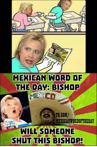 mexican word of the day bishop