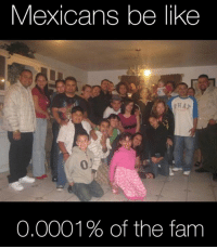 Be Like, Fam, and Memes: Mexicans be like  eHA  0  O.0001 % of the fam 😂😂 MexicansProblemas Via @more_mexican_stuff