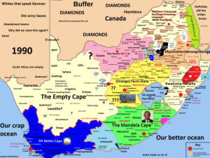 land-of-maps:  Stereotypes in South Africa [OC] [1984 x 1496]CLICK HERE FOR MORE MAPS!: Mexico  Whites that speak German  Buffer DIAMONDS  Definitely  still the  Indian  Ocean  DIAMONDS  messworthem Fronenal  Old army bases  Canada  SAse Jacob Zumtona.  Should have annexed this one  Abandoned towns  Malema? Lephalale  Why did we want this again?  DIAMONDS  Ghost mining towns  Sand  El  MORE PLATINUM  80% OF THE WORLD'S  PLATINUM  MINERS  MINES  linsert White fight  COLD  DEAD MINERS MONEY  1990  POVERTY Tobaccoteracy  Mpumahlenhenangehlenga  The North WEFFst KKK vileetrok  yscrapers  DavDActual Growth Ermelo  Gauteng 2.0 SASOL 2.0 Dutch town  Tswana  Amerfon thmerdam AIDS Nature  OIL  Suk in 1560IDSPetrol  EARTHQUAKE  Lion Thorn City  South Africa, but empty  (don't worry, just take a shower)  Missionaries  Gol  don't worry, just use  canyenBushmen?Nothing  What is a job  More Asians  What do they do here?  Posh English  (Orange) Farm Statend  (for safety of coursel  Posh Enelish town names  KwaZuma-Natality  Huge ga  No landmarks depression  Scandelous  UR RIVER  Afrikaner town  Jacob Zuma shaka's grave  BEACHES  Mountains?  Bielefeld  Afrikaans-speaking blacks  Griquas  The forgotten capiv  Do people esev stn  live here?  Afrikaans coloureds<-> Afrikaans whites  Unemployment  lacob Zuma's children  Volkstaat  uring DOMESTIC  Bushmen? rte  Petrol stops  Lesotho?  Aliwal (North  ehon Man. Deles SNOW Fourth world  Del SNOW! resort  YAWN  Nelson Mandela was also here  Xhosas  old towns  MadibaXhosas  Anti-ANC forcefield  Mozambique?  Transkak  DM  AFRIKAANs POVERTY  The Mandela Cape  Our crap  ocean  Sheep  #MustFall Nehon was herTownships  Desert  1820  erOur better ocean  glish-speaking coloureds  Universities Poor Capital  DA Better Cape  Wine BAD AFRIKAANS  AFRIKAANS  INTERNATIONAL  TOURISMAlcatraz  CARS Volkswagen  Cote d'Azur  Wine GOOD ENGLISH  Honeymoons  battle  Second hom  De foct national copitol  Not including Bloemfontein  Retirement homes  Israel made us do it!  Cape SHARKS!  Fruit  map by bezzleford land-of-maps:  Stereotypes in South Africa [OC] [1984 x 1496]CLICK HERE FOR MORE MAPS!