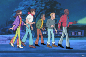 madygcomics:  Long time no post! Been mostly doing commissioned work lately.  Here's a fun one I just finished - The Queer Eye gang in oldschool Scooby Doo style! I was gonna draw Bruley too but we all know Antoni is the real Scoob here.  : MGd madygcomics:  Long time no post! Been mostly doing commissioned work lately.  Here's a fun one I just finished - The Queer Eye gang in oldschool Scooby Doo style! I was gonna draw Bruley too but we all know Antoni is the real Scoob here.