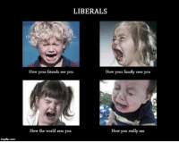FWD: Fwd: FWD: all these LIBS crying abUOT noTHING!!!: mgflp.com  LIBERALS  How your friends see you  How your family sees you  How the world sees you  How you really are FWD: Fwd: FWD: all these LIBS crying abUOT noTHING!!!
