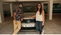 Indian wicket keeper Dinesh Karthik with his wife Deepika: MH14 FS 6278 Indian wicket keeper Dinesh Karthik with his wife Deepika