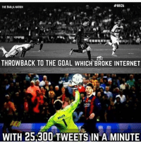 @kimkardashian this is how you break the internet😍🔥😂:  #MH26  THE BARCA NATION  10  THROWBACK TO THE GOAL WHICH BROKE INTERNET  ATAN  WITH 25.300 TWEETS IN A MINUTE @kimkardashian this is how you break the internet😍🔥😂