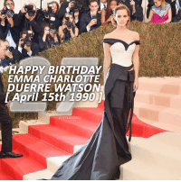 [15.04.17] HAPPY 27TH BIRTHDAY EMMA WATSON! – Today is Emma Watson's 27th Birthday! I became a fan of Emma back in 2007 when I became a fan of Harry Potter. While I wasn't as big of a fan back then as I am now, I still loved her and her character of Hermione Granger. Since then, she has played so many other amazing characters, a few of which are at the end of the swipe thing on this post, including the iconic Belle in Beauty and the Beast. – While I went through a point where I wasn't really sure how to feel about Emma and what she was doing (2015-2016), I've recently come to realise how much she's influenced my life. I don't think I'd be the person I am today without her influence - whether it was as small as her role in portraying Hermione or as large as her role in talking about equality and trying to make a change, she has impacted my life in a huge way. – I can't exactly pinpoint when she impacted my life, or even think about what she did to make it happen, but all I know is that I am so grateful to have her as a role model. She's an incredible, strong, intelligent and beautiful woman and I'm so proud of how far she's come in her career and in her influence. – So, happy 27th birthday, @emmawatson. I'm so happy and proud to be a fan of yours and I cannot wait to see where life takes you from here on forwards! – Happy Birthday Emma! ❤️: MHAPPY BIRTHDAY  EMMA CHARLOTTE  DUERRE WATSON  April 15th 1990  POTTERSCENES [15.04.17] HAPPY 27TH BIRTHDAY EMMA WATSON! – Today is Emma Watson's 27th Birthday! I became a fan of Emma back in 2007 when I became a fan of Harry Potter. While I wasn't as big of a fan back then as I am now, I still loved her and her character of Hermione Granger. Since then, she has played so many other amazing characters, a few of which are at the end of the swipe thing on this post, including the iconic Belle in Beauty and the Beast. – While I went through a point where I wasn't really sure how to feel about Emma and what she was doing (2015-2016), I've recently come to realise how much she's influenced my life. I don't think I'd be the person I am today without her influence - whether it was as small as her role in portraying Hermione or as large as her role in talking about equality and trying to make a change, she has impacted my life in a huge way. – I can't exactly pinpoint when she impacted my life, or even think about what she did to make it happen, but all I know is that I am so grateful to have her as a role model. She's an incredible, strong, intelligent and beautiful woman and I'm so proud of how far she's come in her career and in her influence. – So, happy 27th birthday, @emmawatson. I'm so happy and proud to be a fan of yours and I cannot wait to see where life takes you from here on forwards! – Happy Birthday Emma! ❤️