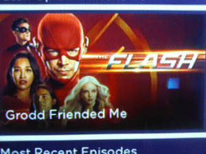 Mhm Grodd friended me. I guess CBS and CW had a collab.: Mhm Grodd friended me. I guess CBS and CW had a collab.