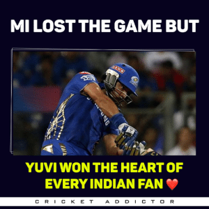Memes, The Game, and True: MI LOST THE GAME BUT  YUVI WON THE HEART OF  EVERY INDIAN FAN  CR丨CKET  A D D CT O R True that <3 :(