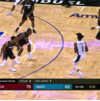 Memes, Magic, and Orlando: MIAMI  NOL  ocked Shots MIAMI 2 ORLANDO 7  EAT  75 MAGIC  62 3rd Qtr 2:16 Jonathon Simmons with the nastiest block of the #NBAPreseason https://t.co/7P9BGehqwj