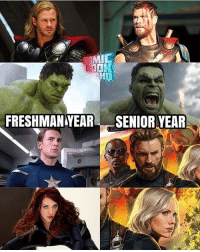 Honestly the glo ups are unbelievable, especially Cap. I love seeing how characters appearance develop over time. Via: @comicbookhq captainamerica steverogers chrisevans scarlettjohansson blackwidow thorragnarok thor chrishemsworth hulk brucebanner avengersinfinitywar avengers infinitywar captainamericacivilwar marvel: MIC  FRESHMANYEAR SENIOR YEAR Honestly the glo ups are unbelievable, especially Cap. I love seeing how characters appearance develop over time. Via: @comicbookhq captainamerica steverogers chrisevans scarlettjohansson blackwidow thorragnarok thor chrishemsworth hulk brucebanner avengersinfinitywar avengers infinitywar captainamericacivilwar marvel