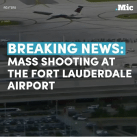 Memes, Breaking News, and Reuters: .Mic  REUTERS  BREAKING NEWS:  MASS SHOOTING AT  THE FORT LAUDERDALE  AIRPORT A gunman opened fire at the international Fort Lauderdale airport, killing at least three people on Friday. Motive for the shooting is unclear at this time, the suspect is now in custody. Follow us for future updates on this.
