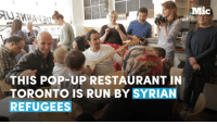 Syrian refugees run this pop-up restaurant in Toronto — Justin Trudeau took notice and showed up for a meal.  Mamoul Without A Mold: Mic  THIS POP-UP RESTAURANT IN  STORONTOIS RUN BY SYRIAN  REFUGEES Syrian refugees run this pop-up restaurant in Toronto — Justin Trudeau took notice and showed up for a meal.  Mamoul Without A Mold