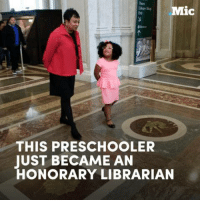 This 4-year-old girl has already read more than 1,000 books and just became an honorary librarian.: Mic  THIS PRESCHOOL ER  JUST BECAME AN  HONORARY LIBRARIAN This 4-year-old girl has already read more than 1,000 books and just became an honorary librarian.