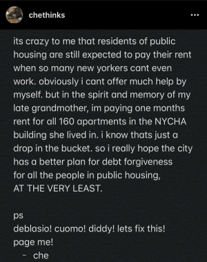 Michael Che pays for one month rent for an entire public housing building in NYC.: Michael Che pays for one month rent for an entire public housing building in NYC.