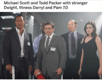 oh my god 😂 black friday - cyber monday deals live until monday night 11:59 pm: Michael Scott and Todd Packer with stronger  Dwight, fitness Darryl and Pam 7.0 oh my god 😂 black friday - cyber monday deals live until monday night 11:59 pm