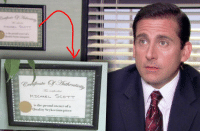 Certificate of Authenticity: MICHAEL SCOTT  is the proud owner ofa  Quality Scyko timepiece Certificate of Authenticity