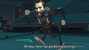 Michaelangelo about to paint the sistine chapel (1508AD colorized): Michaelangelo about to paint the sistine chapel (1508AD colorized)