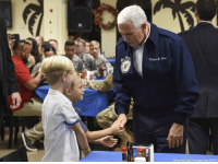 Memes, Air Force, and Wife: michel R  Airman 1st Class Christopher Quail/DVIDS Vice President @mike.pence and his wife Karen visit with service members and their families at Andersen Air Force Base in Guam.