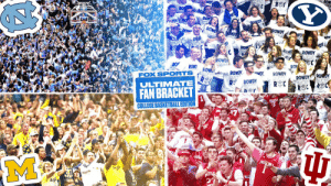 Michigan. Indiana. UNC. BYU.  The Final Four in our Ultimate Fan Bracket is locked in 🔒🔥 #FOXFanVote https://t.co/4jAp1vp9kk: Michigan. Indiana. UNC. BYU.  The Final Four in our Ultimate Fan Bracket is locked in 🔒🔥 #FOXFanVote https://t.co/4jAp1vp9kk