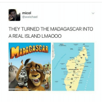 Deleted the last picture it was in bad taste. When i posted it I was thinking about Netflix attempting to capitalize on actual people being suicidal, rather than the possibility of actual people being harmed by the meme itself and invalidating the feelings of those who are going through anything similar.: micol  @wwichael  THEY TURNED THE MADAGASCAR INTO  A REAL ISLAND LMAOOO  COMOROS Deleted the last picture it was in bad taste. When i posted it I was thinking about Netflix attempting to capitalize on actual people being suicidal, rather than the possibility of actual people being harmed by the meme itself and invalidating the feelings of those who are going through anything similar.