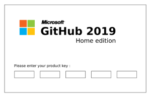 Tried to post this to r/github boy, lots of Microsoft fanboys over there :): Microsoft  GitHub 2019  Home edition  Please enter your product key Tried to post this to r/github boy, lots of Microsoft fanboys over there :)