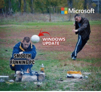 How Many Times, Microsoft, and Smooth: Microsoft  WINDOWS  UPDATE  SMOOTH  RUNNING PC Ive lost count of how many times this has happened