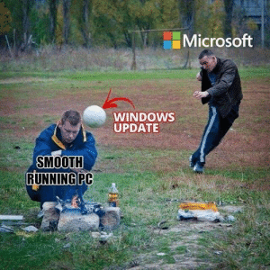 Why has this not changed in the last 15 years: Microsoft  WINDOwS  UPDATE  SMOOTH  RUNNINGPC Why has this not changed in the last 15 years
