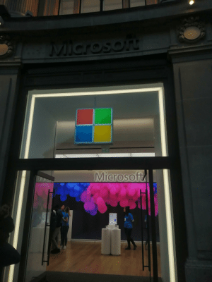 Microsoft, Funny and Sad, and Down: MICrosor  Microsoft  Save up  to £650 When you have to copy your competitor down to the colour of their employees shirts...