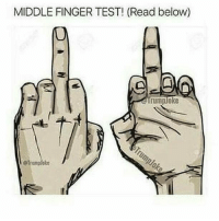 """FINGER CHALLENGE! (86% of people can't do it) 1. Use your middle finger only! 2. Follow @laughlifegoals and turn on post notifications 3. Comment """"DONE"""" letter by letter!: MIDDLE FINGER TEST! (Read below)  (0  rumploke  @Tremploke FINGER CHALLENGE! (86% of people can't do it) 1. Use your middle finger only! 2. Follow @laughlifegoals and turn on post notifications 3. Comment """"DONE"""" letter by letter!"""
