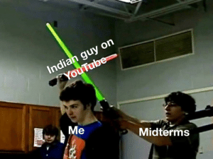 Midterms be like............: Midterms be like............