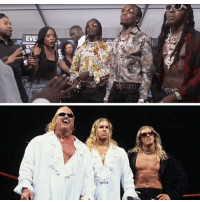 Migos trying to fight Joe budden with the silk shirts looking like the brood 😆: Migos trying to fight Joe budden with the silk shirts looking like the brood 😆