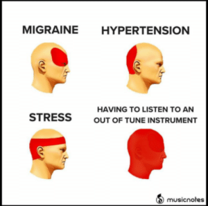 clarinet memes | Tumblr: MIGRAINE  HYPERTENSION  HAVING TO LISTEN TO AN  STRESS  OUT OF TUNE INSTRUMENT  musicnotes clarinet memes | Tumblr