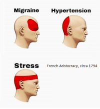 i dont like where were headed: Migraine Hypertension  St  ress  French Aristocracy, circa 1794 i dont like where were headed