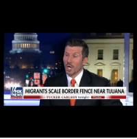 Memes, Jobs, and Tucker Carlson: MIGRANTS SCALE BORDER FENCE NEAR TIUUANA  EWS  TUCKER CARLSON tonight Tucker  channel He points out how automation is going to eliminate a huge % of low-skill jobs in this country... So why are we bringing in so many low-skilled foreign workers?