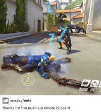 Meme, Memes, and Blizzard: MIHIM  sneaky feets  thanks for the push-up emote blizzard  AE Thanks @playoverwatch! Overwatch Overwatchmeme Soldier Reaper Ana meme