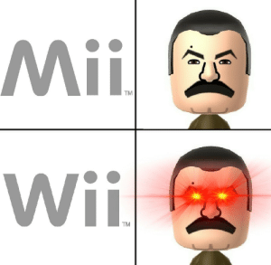 Sports, Wii, and Wii Sports: Mii  TM  Wif  TM Let us play Wii Sports, comrades.
