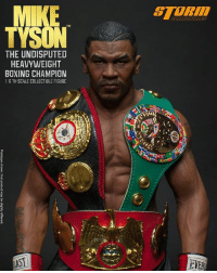 "Memes, Trunks, and Seamless: MIKE  TM  TYSON  THE UNDISPUTED  HEAVYWEIGHT  BOXING CHAMPION  B TH SCALE COLLECTIBLE FIGURE  TASI  VERT Wow. I love The Undisputed Heavyweight Boxing Champion 1:6th Scale Collectible Figure. This comes with 2 head sculpts and a brand new developed Seamless-body. We also have Official ""WBC"" ""WBA"" and ""IBF"" Championship Belts, Everlast Boxing Trunks, Boxing Gloves and Everlast Boxing Sandbag. Release Date: Q3 2017 OFFICIAL PREORDER NOW at the website below and follow @storm_collectibles www.stormco.com.hk"